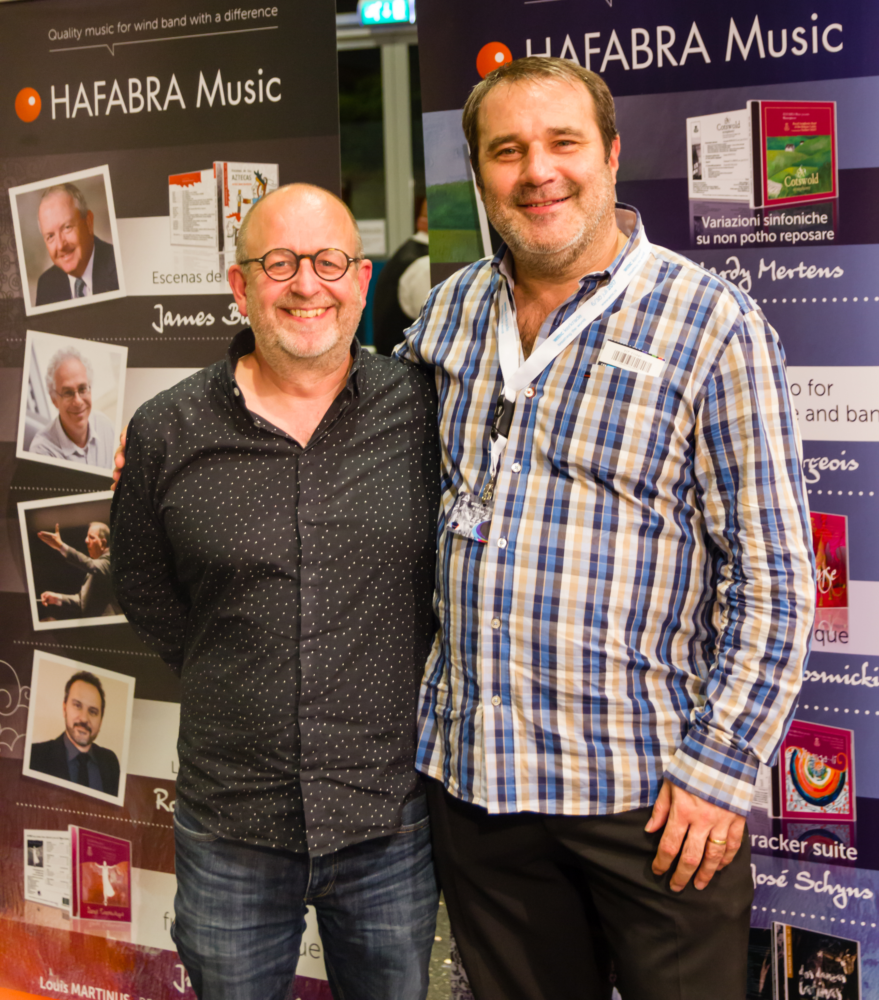 Louis Martinus with Bart Picqueur at the WMC in Kerkrade (NL) 2017