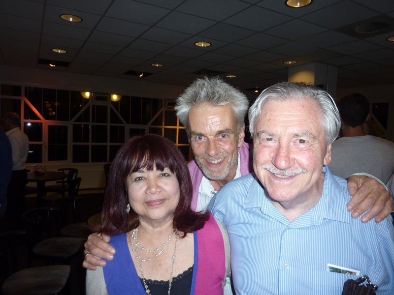 Norma Bourgeois, Johannes Stert and Derek Bourgeois at the gala concert of the Belgian Guides during the WMC 2013 in Kerkrade.