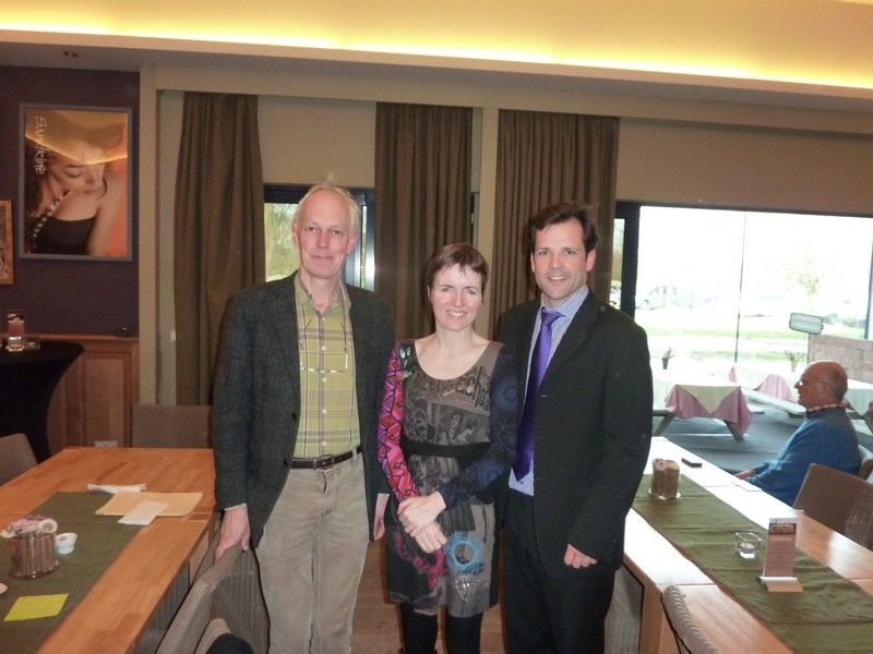 Ed de Boer, Suzanne Welters and Yves Segers after the recording of Ode to Lilith with the Belgian Guides in 2014